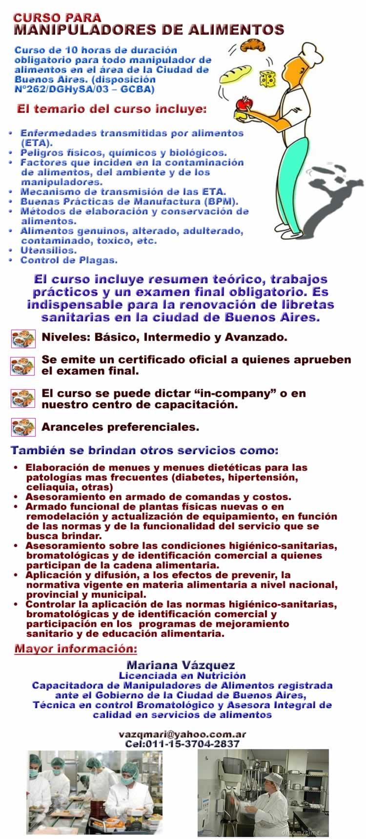 Curso para manipuladores de alimentos cocina a en preciolandia argentina 71oc27 - Temario curso manipulador de alimentos ...
